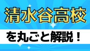 清水谷高校を丸ごと解説!【評判・進学実績・おすすめ塾】