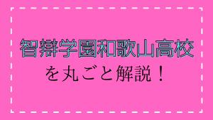 智辯学園和歌山高校を丸ごと解説!【評判・進学実績・おすすめ塾】