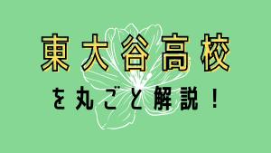 東大谷高校を丸ごと解説!【評判・進学実績・おすすめ塾】