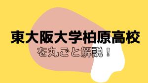 東大阪大学柏原高校を丸ごと解説!【評判・進学実績・おすすめ塾】