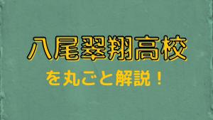 八尾翠翔高校を丸ごと解説!【評判・進学実績・おすすめ塾】