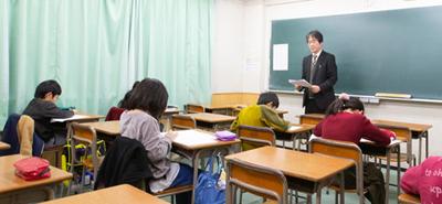 栄光学園 集団授業の様子